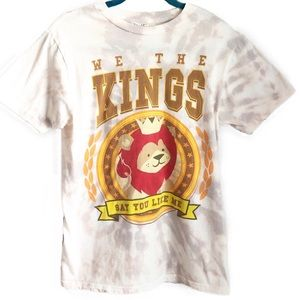 WE THE KINGS hand tie dyed graphic band t-shirt